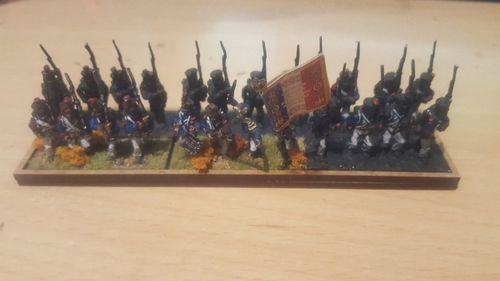 Napoleonic movement tray 6 infantry bases 40x15mm