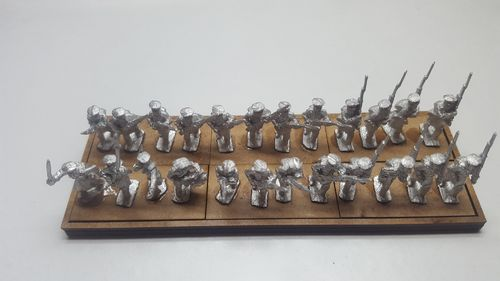 Napoleonic movement tray 6 infantry bases 40 x 20 mm