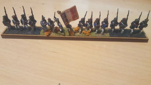 Tray of napoleonic movement 4 infantry pedestals 40x20mm in a row