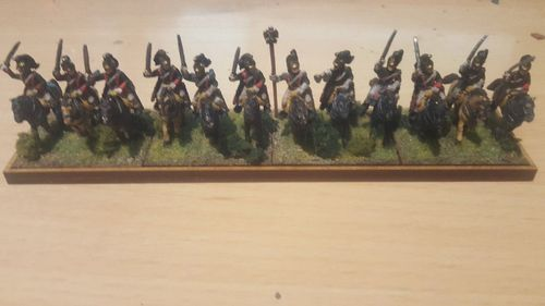 Napoleonic movement tray 4 cavalry pedestals 40x30 in a row