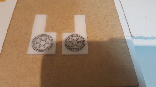 Ships position markers for X-wing, custom Galactic Empire