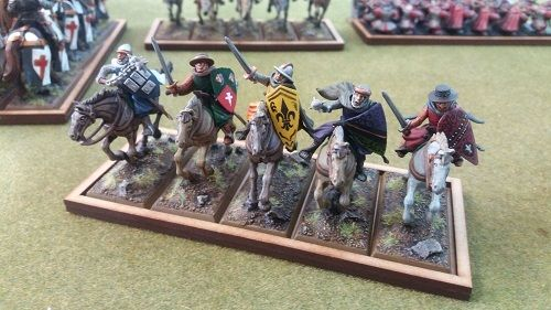 Tray of movement for 5 miniatures of 25x50mm cavalry
