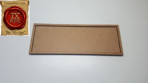 Movement tray for 6 miniatures of 25x50mm