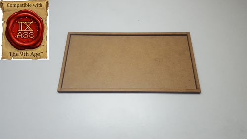 Tray of movement for 4 miniatures of 50x75mm