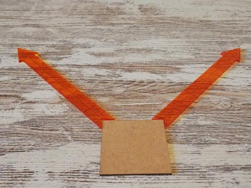 Vision arrows in orange methacrylate 2 units