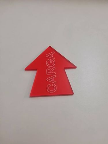 Red methacrylate combat marker for wargames