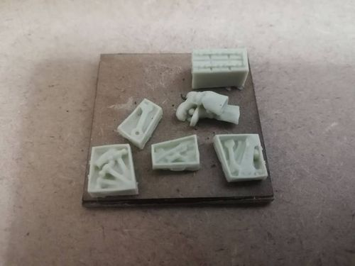 Pack of tool boxes for 28mm in white resin