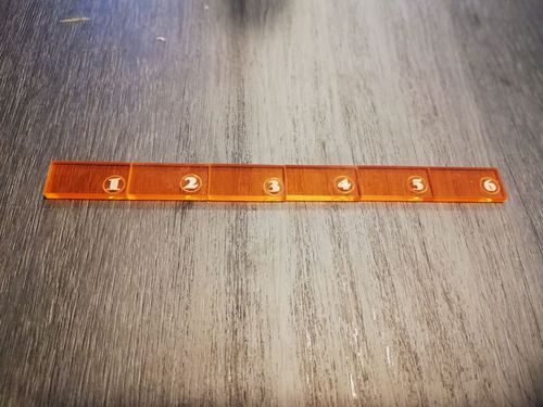 6-inch ruler in orange methacrylate