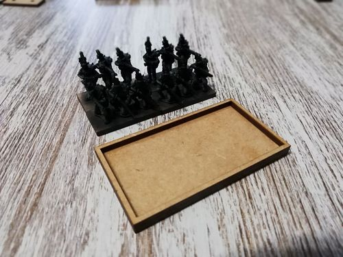 Napoleonic movement tray 4 bases of 30x15mm