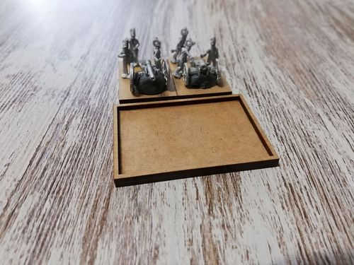 Napoleonic movement tray 2 cannons in 30x40mm
