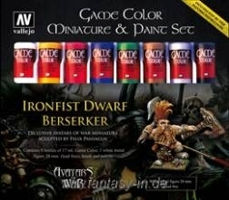Game Color Ironsfist Dwarf Berserker Avatar Set